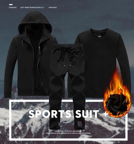 Erkekler Marka Spor Hoodie Ve Tişörtü Kalın Kış Jogger Sporting Suit Mens Tasarımcı Çift Takım Elbise Eşofman Set Artı Boyutu L-5XL