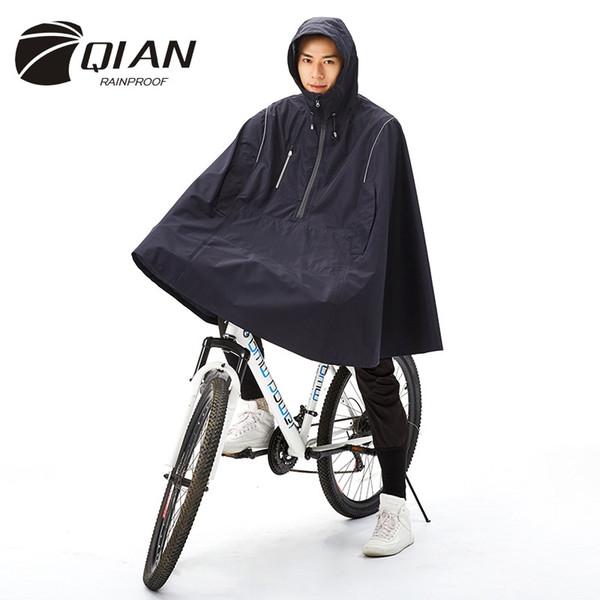 QIAN RAINPROOF Outdoor Moda Donna / Uomo Impermeabile Cloak Cycle Rain Coat Multi-funzionale Arrampicata Escursionismo Viaggi Copertura di pioggia # 17106