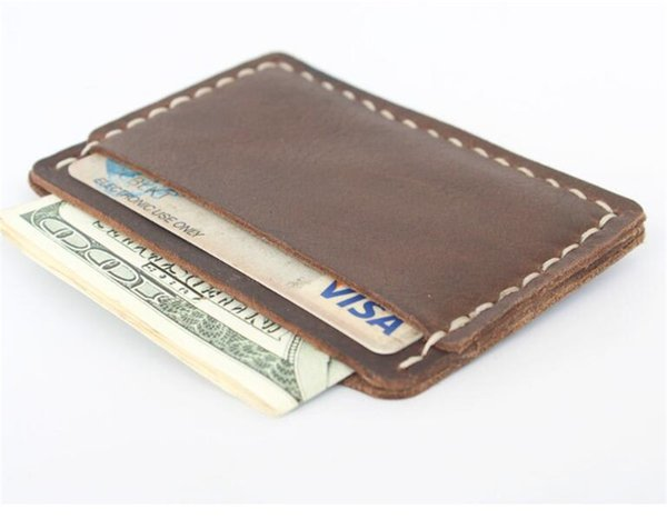 high quality men wallets samll crzay horse leather wallets men vintage thin leather mini