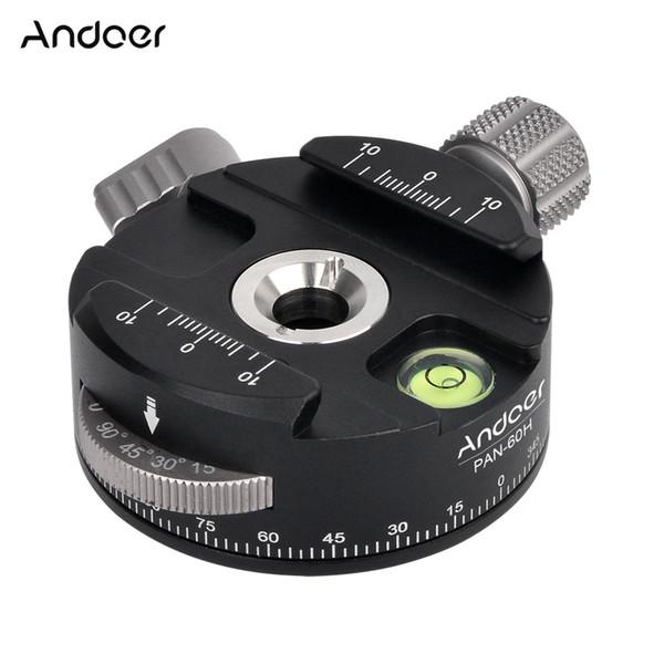 Andoer Hochwertiges Stativkopf PAN-60H Panorama-Kugelkopf-Stativ mit Indexerator AS-Typ-Klemme für Kameras
