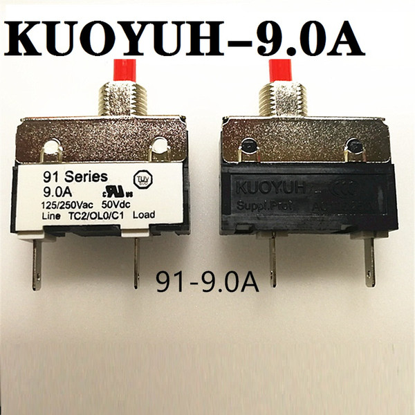 best selling small current overload protector 91 Series 9A Taiwan KUOYUH