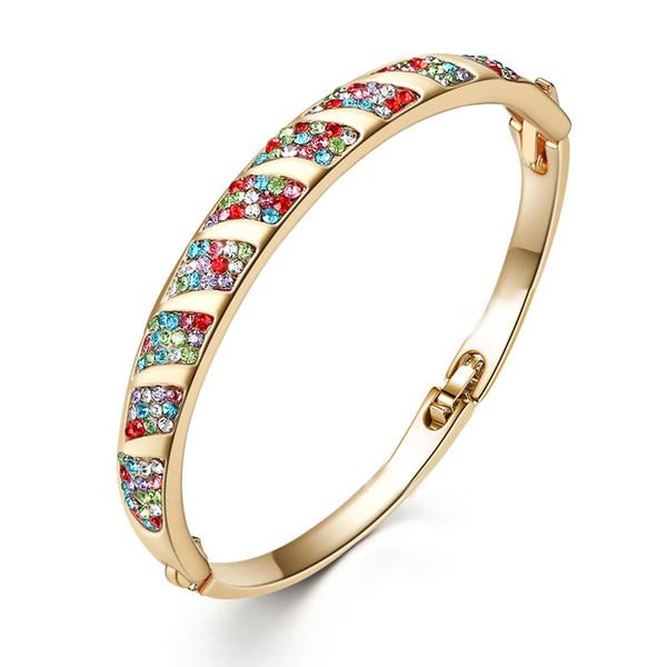 Moda, moda, ropa de mano, regalos de personalidad, tocador, pulsera, pulsera de cristal de diamante, pulsera exquisita