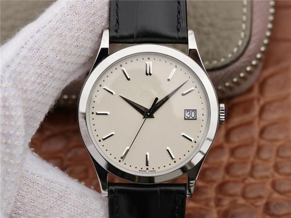 ZF Classico orologio da polso 316L Jinggang avorio tavolo 324SC Core Cowskin orologio con orologio da polso pulsante funzione orologio da uomo