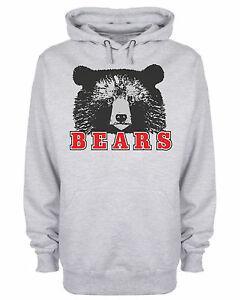Bears Hoodie Slogan Wild Animal Hooded Sweatshirt