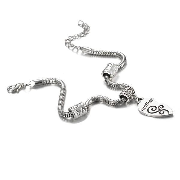 Mother Daughter Bracelets 2PCS Broken Splicing Heart Bracelet Bangle Mom Women Girl Femme Charm Statement Jewelry Family Bracelet