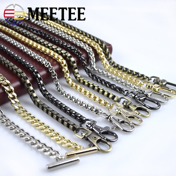 Meetee 120cm Kette Hight Qualität Metall DIY Beutel Schultergurt Handtaschen Zubehör Teile Ersatz