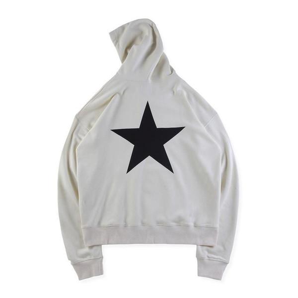 19ss Moda Bahar Sonbahar Tanrı Korkusu Essentials Kaykay Yıldız Boy Hoodie Hoody Erkek Kadın Kapüşonlu Sweatshirt Coat