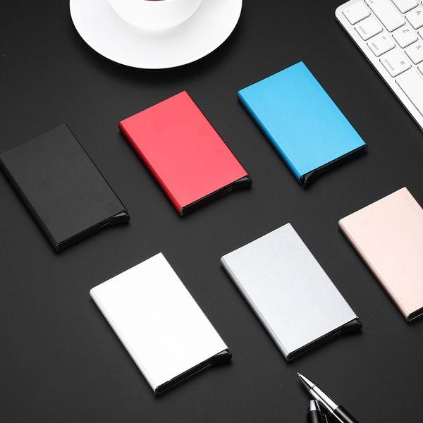 Aluminum Card Holder Case Automatic Pop Up Business Cards Holder Men Metal Credit Passport Card Box ID Card Wallet