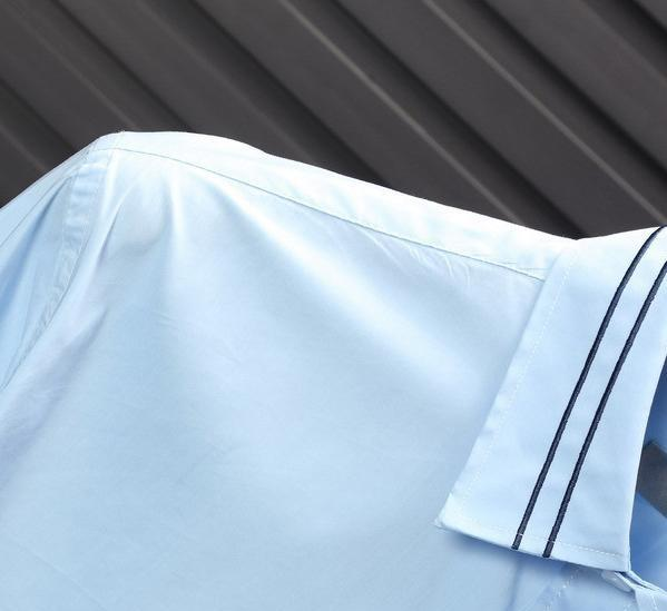 Новый бренд конструктора Mens женщин рубашки воротник нашивки и Queen Bee Свободный Бизнес Офис Голубой Белый Черный рубашка с длинным рукавом Блузка B100229V