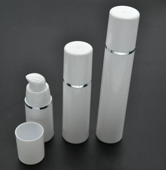 15ml 30ml 50ml High Quality White Airless Pump Bottle -Travel Refillable Cosmetic Skin Care Cream Dispenser, PP Lotion Packing