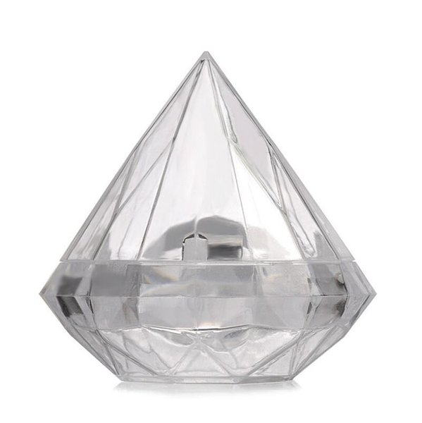 7X7CM Clear Plastic Lovely Diamond Shape Candy Box Boxes Wedding Party Favor Box Candy Holders Banquet Gift Free Shipping LX6788