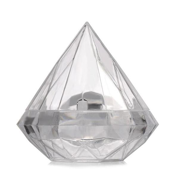 7X7 CM Durchsichtigen Kunststoff Schöne Diamant Form Pralinenschachtel Boxen Hochzeitsbevorzugungskasten Süßigkeiten Halter Bankett Geschenk Freies Verschiffen LX6788