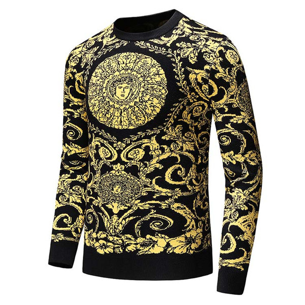 Designer Pullover Langarm Herren Mode V Marke Top Herbst Frühling Luxus Kleidung Medusa Stickerei Pullover Pullover Mantel lässig Rundhalsausschnitt
