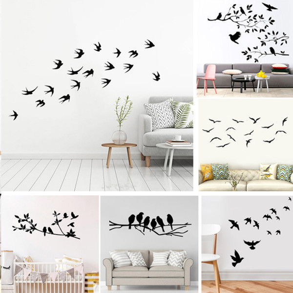 Creativity Tree Bird Vinyl Wall Sticker For Home Wall Decor Stickers Murals Living room Decoration Animals stickers on the wall