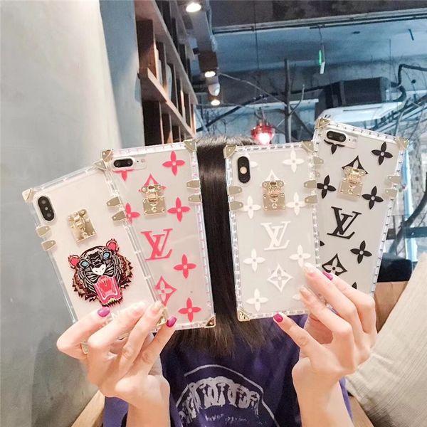 Temizle Kapak iphone X kılıf 7 7 artı TPU Arka kapak iPhone Için XS XR MAX 8 8 artı 6 6 S Artı Moda marka Tasarımcısı Telefon Kılıfı ...