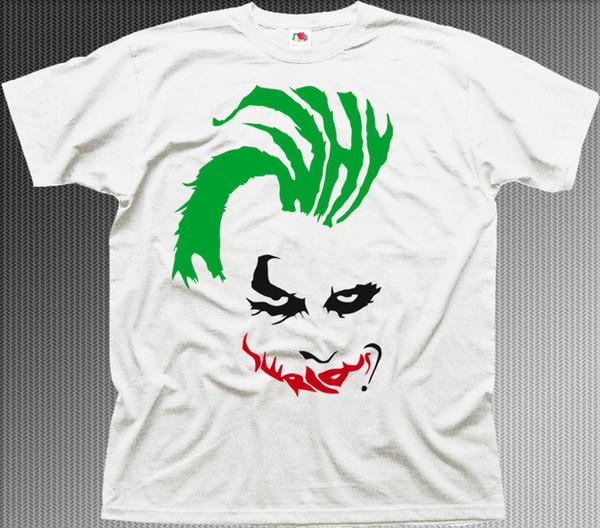 NEDEN CİDDİ Joker beyaz pamuk baskılı tişört 9952 harajuku Yaz 2018 tshirt