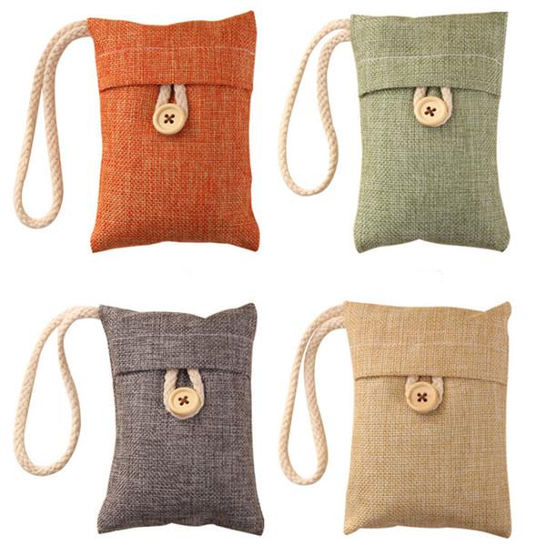 1 PCS Bamboo Charcoal Bag Air Freshener Odor Deodorant Sachets ore Package Odorless Sack Pest Wardrobe Supplies Car Accessories