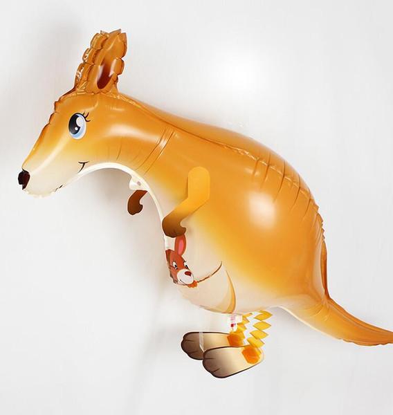 Andando Animal Balões Canguru Folha De Alumínio Bola de Brinquedo de Presente Fontes Do Partido de Aniversário Crianças Balões Decoração Do Partido 30 PCS