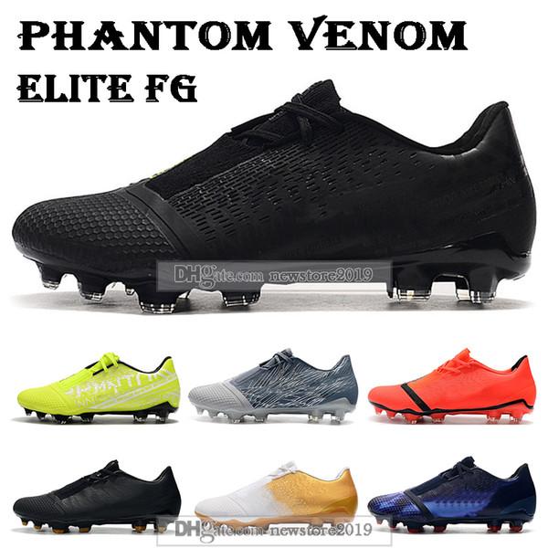 2019 Erkek Düşük Bilek Futbol Boots Phantom Venom Elite FG Futbol Ayakkabı Phantom VNM FG Açık Futbol Profilli