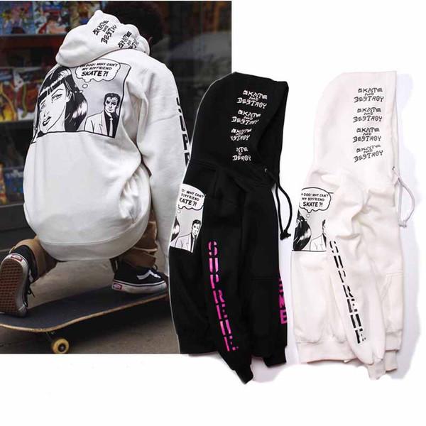 Top brand fashion mens hoodie sweatshirt designer spure box logo skateboarding sports print hoodie hip hop man womens hooded coat