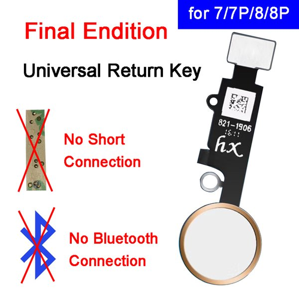 End Edition Universal Home Button For iPhone 7 7Plus 8 8Plus Home Key Flex Cable with Return Function Flex Ribbon No Touch ID