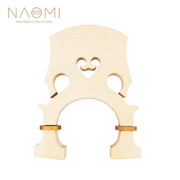 NAOMI Bass Bridge 4/4 Standard Maple Bass Adjustable Bridge For Bass Accessories Violin Parts Accessories New