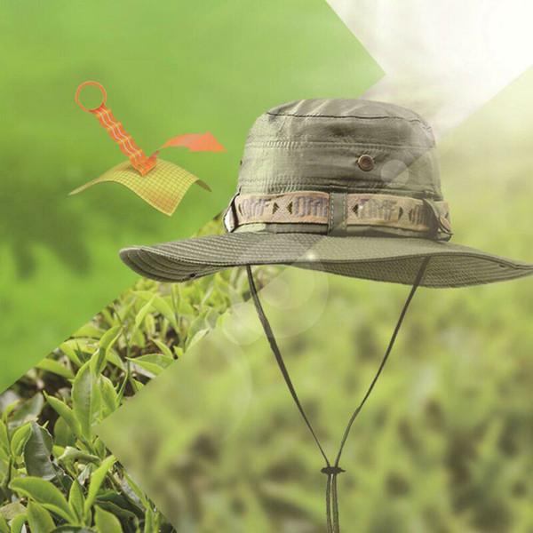 새로운 남성 여성의 야외 챙이 넓은 태양 모자 캐주얼 접는 낚시 모자 썬 스크린 선바이져 여름 정글 사냥 하이킹 모자