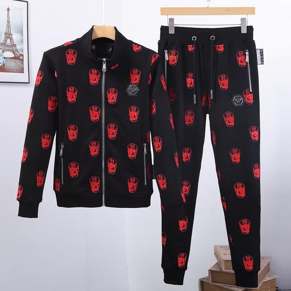 Дизайнерский спортивный костюм Мужчины Роскошные спортивные костюмы Осень Марка Мужские тигровые спортивные костюмы Джоггер Костюмы Куртка + брюки Наборы для отдыха женские Спортивные костюмы