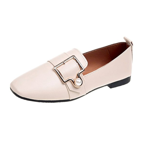 Dress Shoes Fashion Women's Pumps Shallow Low Heels Party Pointed Toe Sexy Women Pumps Metal Belt Buckle Office