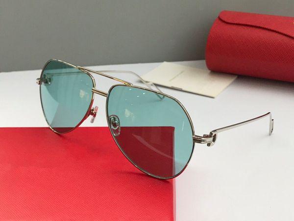 Toptan Satış - Toptan-Erkekler Marka Güneş gözlükleri 0110 Metal Pilot çerçeve Tasarımcı Gözlük stil anti-UV400 gözlük satan kadınlar için