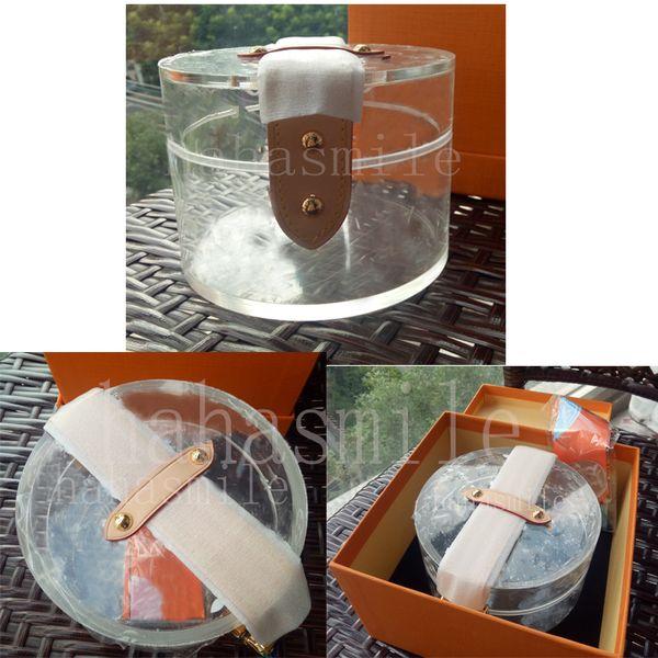 Top quality SCOTT caixa de armazenamento designer sacos transparentes de luxo mulheres pvc jelly clear bolsas caso cosmético de luxo GI0203 caixas de presente