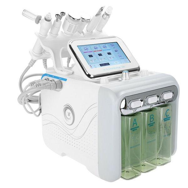 top popular Multifunctional 6 in 1 H2 O2 Hydra Facial Dermabrasion Hydro Microdermabrasion Peeling Vacuum Skin Cleaning Water Aqua Oxygen Spray Device B 2020