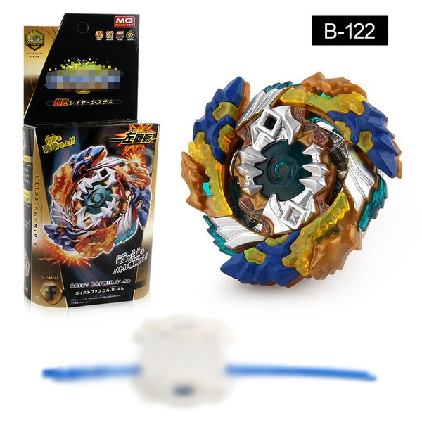 top popular 4D metal Beyblade Burst B-122 Starter Geist Fafnir Official ATTACK spinning top gyro With Launcher and Box Gifts For Kids 2019