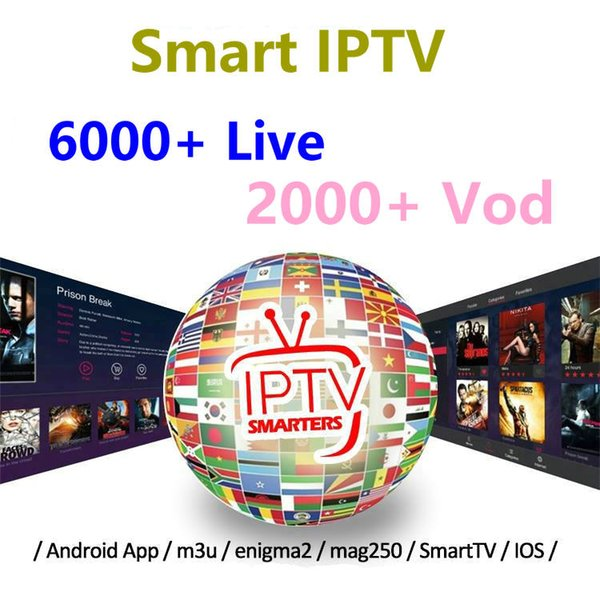 IPTV Subscription For Smart TV Android TV Box M3u Link IPhone IPad Mag Box  Italy UK USA Spain France Canada Latino 6000+ Live Selling Used Electronics