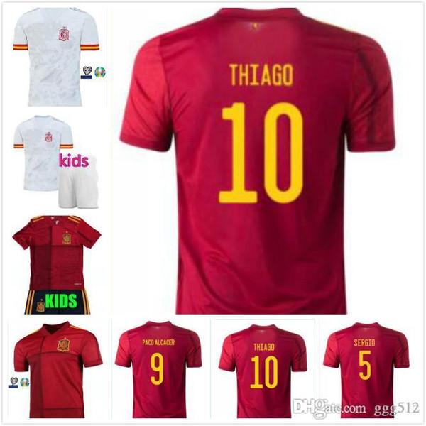 Thailand Spanien Jersey Fußball-Jersey-18 19 20 Paco Alcácer ASENSIO MORATA ISCO INIESTA THIAGO SAUL 2019 2020 Erwachsene Menschen Kinder Sport Footba