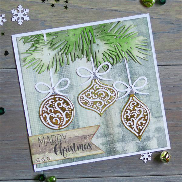 InLoveArts 11Pcs/Lot 198*205mm Christmas Ornaments Metal Cutting Dies Scrapbooking New 2018 Crafts Ablum Stencil Cutting Dies