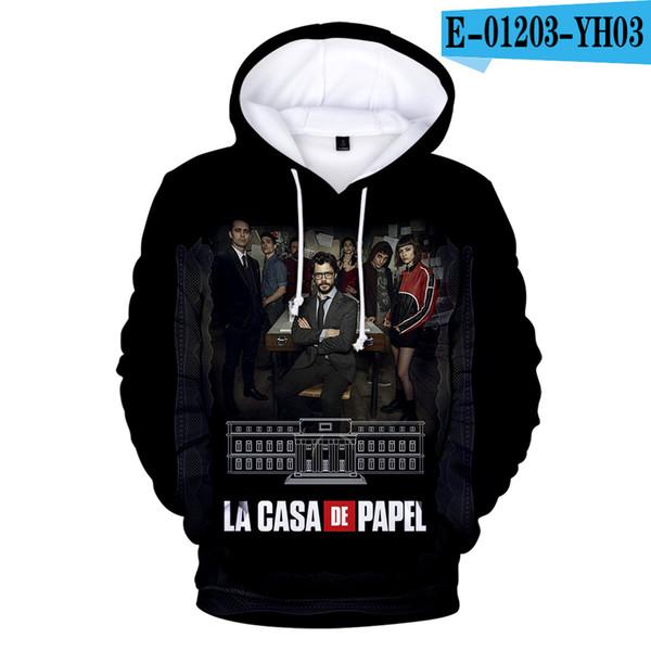 New Fashion Money Heist Paper of House Hoodie La Casa De Papel Sweatshirt Hooded