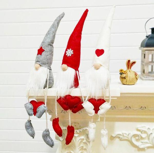 Новые новогодние украшения кукла санта клауса 50см сидящая безликая кукла северная рождественская кукла WL673