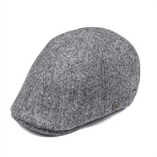 wholesale Women Men Woollen Tweed Newsboy Cap 6 Panel Country Baker Boy Ivy Flat Cap Beret Hats Boina 180