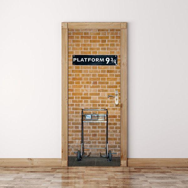 9 3/4 london underground station wandaufkleber grafik einzigartige wand cosplay geschenke für wohnzimmer dekoration pvc aufkleber papier wn644