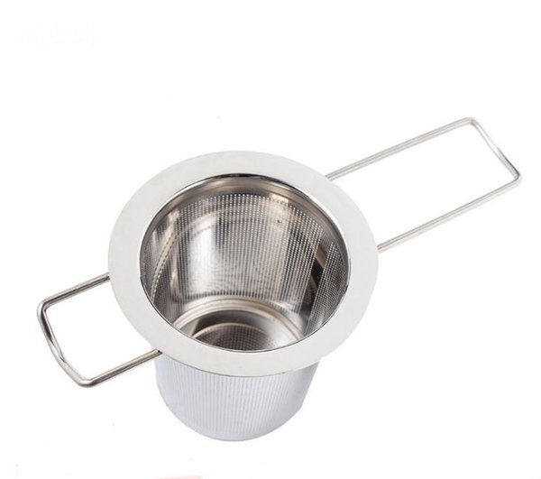 Reusable Stainless Steel Tea Strainer Infuser Filter Basket Folding Tea Infuser Basket Tea Strainer For Teapot free shipping