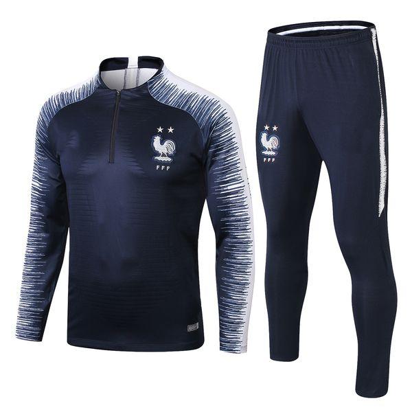 Survêtement de football 2 étoiles 2018 France PAYET POGBA Survêtement veste 2018 19 GRIEZMANN entrainement de costume de sport.