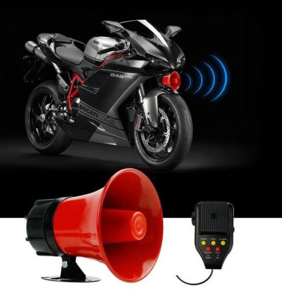 top popular 30W car siren motorcycle alarm Amplifiers speaker horn tweeter with microphone(siren+fire+alarm+record+play function) 2021