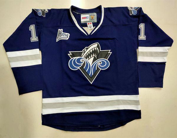 Алексис Lafreniere # 11 Римоуски Oceanic CHL синих ретро хоккей Джерси Мужского прошитого на заказ Номер Название Трикотажного