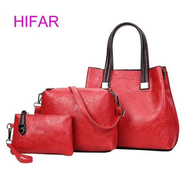 HIFAR Fashion PU Leather Top-handle Women Handbag Solid Lady Lether Shoulder Bag Casual Large Capacity Tote Crossbody Bags 2 S