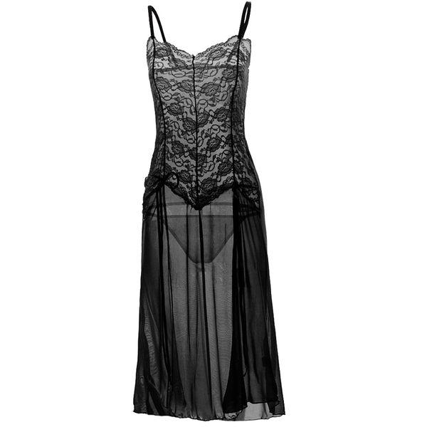 S M L Xl Xxl 3xl 5xl 6xl Erotik Seksi Kostümler Babydoll Elbise Kadın Uzun Şeffaf Seksi Dantel Lingerie Artı Boyutu Erotik Giyim Y19070402