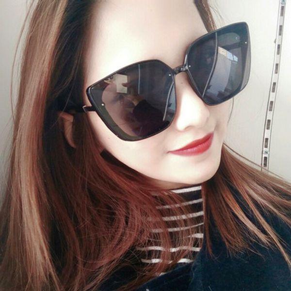 Новый горячий продавец европейских и американского битник Интернет красных солнцезащитных очков капитального ремонт лицо разносторонние дамы очки ослепить цвет прогрессивного