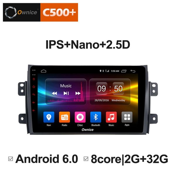 """9"""" 2.5D Nano IPS Screen Android Octa Core/4G LTE Car Media Player With GPS RDS Radio/Bluetooth For Suzuki SX4 2006 - 2016 #5868"""