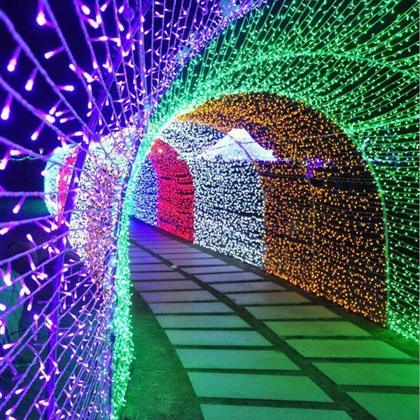 304 luci LED tenda di natale luci esterne 3m * 3m ghiacciolo luci luci matrimonio giardino festa casa tenda luci stringa