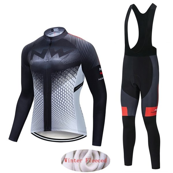 2019 Northwave Homens Winter velo térmica cycling jersey roupas esporte ciclismo definir quente paletó MTB bicicleta